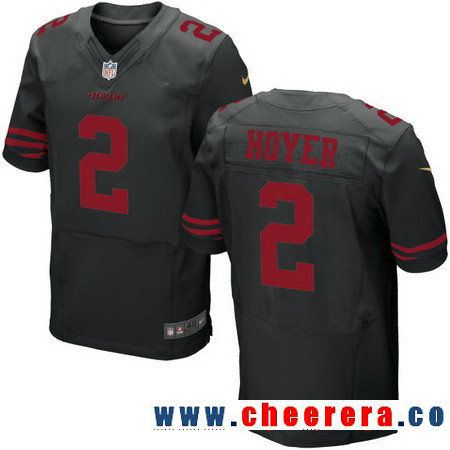 Men's San Francisco 49ers #2 Brian Hoyer Black Alternate Stitched NFL Nike Elite Jersey