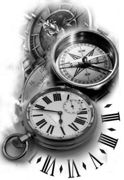 Photo of Nouvelles idées d'horloge à manches de boussole de tatouage