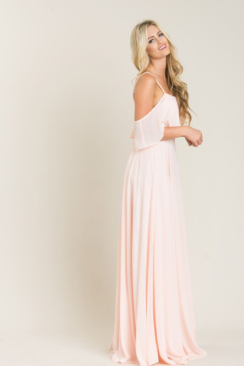 Maxi dress for wedding  Adele Blush Ruffle Maxi Dress  Clothes  Pinterest  Adele Maxi