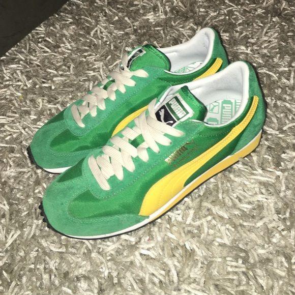 9ec98d547460 Puma Other - Size 7 Men's Vintage Puma Sneakers. Green/Yellow ...