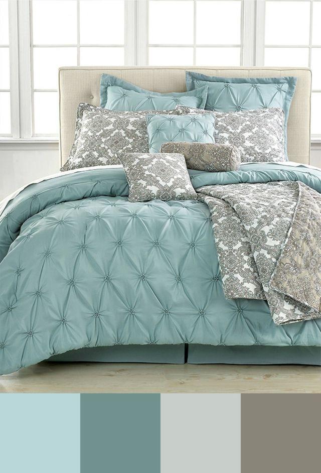 Tendance couleur chambre à coucher unique Blue comforter sets