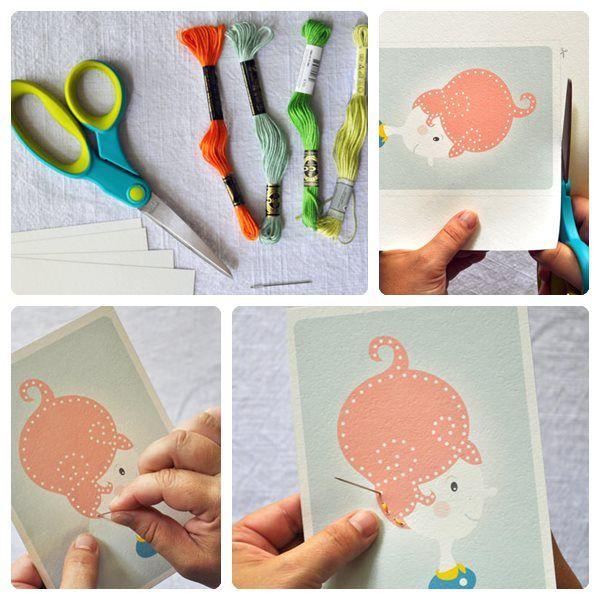 Manualidad Infantil Para Aprender A Coser Pequeocio Manualidades Infantiles Manualidades Manualidades Para Niños