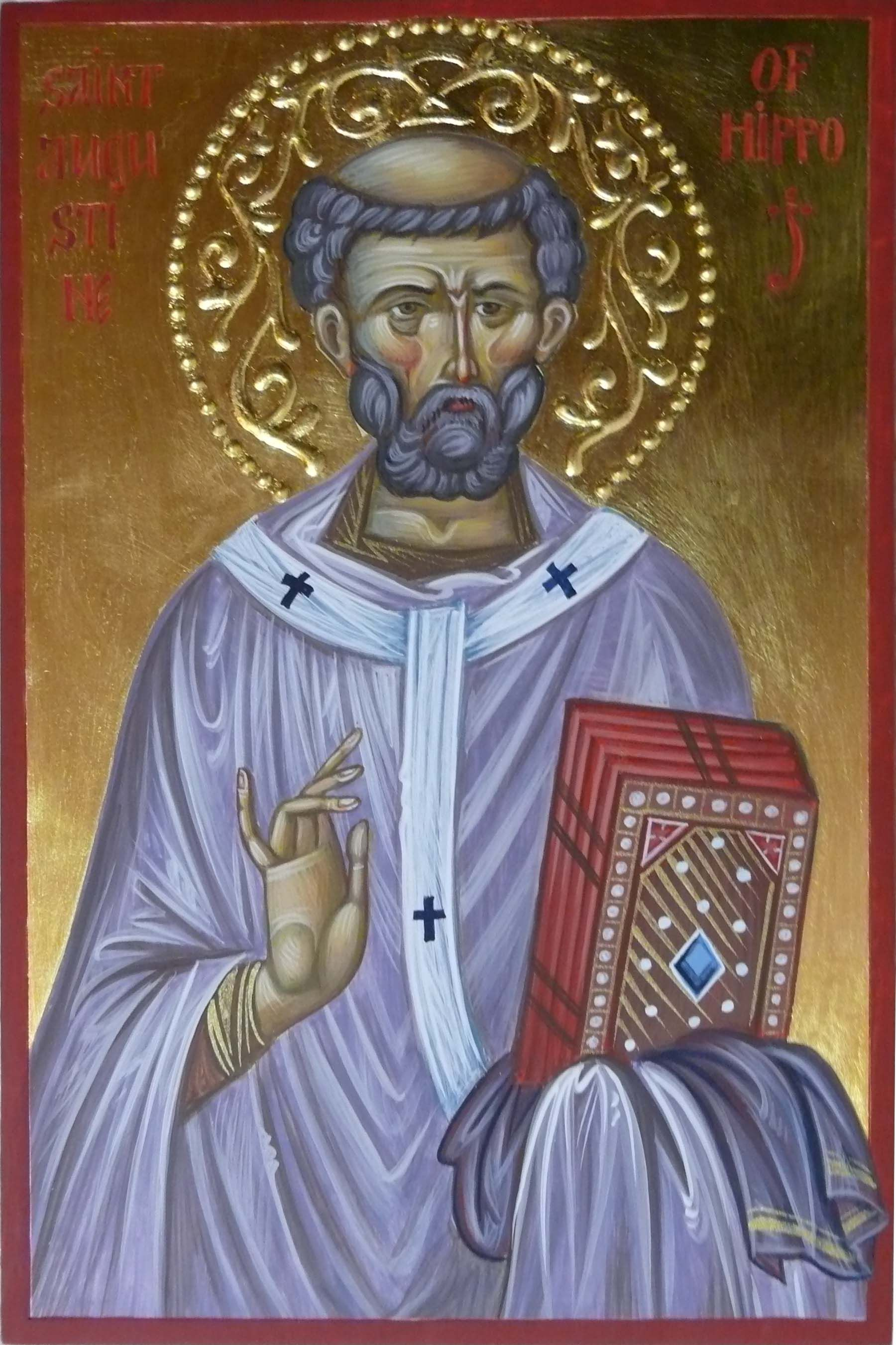 St Augustine Of Hippo Hand Painted Orthodox Icon By Georgi Chimev Orthodox Icons Augustine Of Hippo Iconography