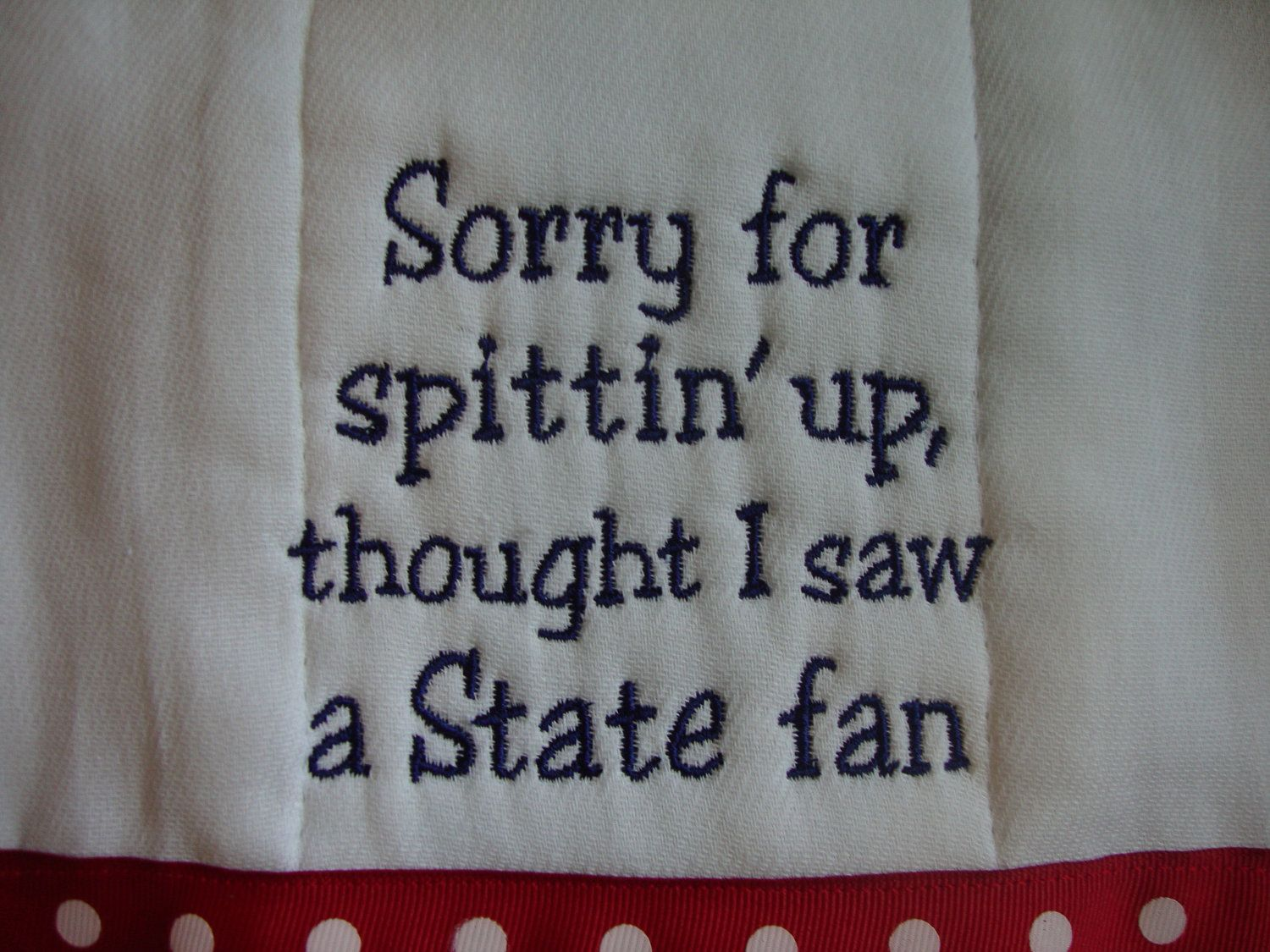 Ole Miss Burp Cloth by CoughlinCrafts on Etsy