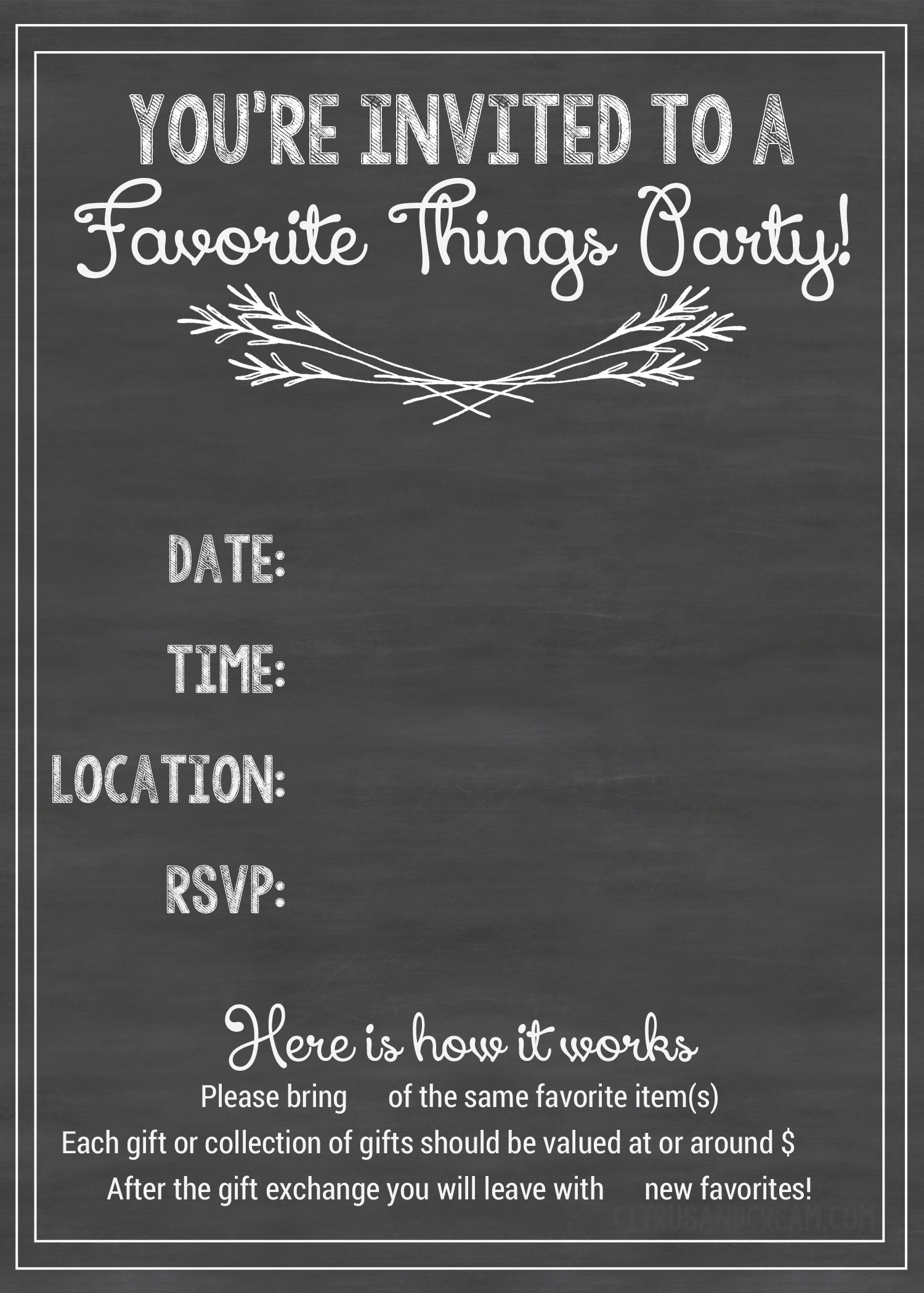 how to host a favorite things party including free facebook invite printable invitations and printable gift tags everything you need to know