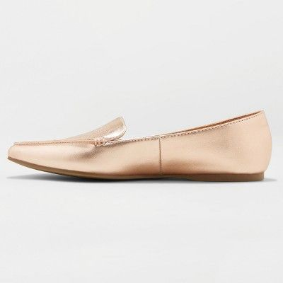 832af7fa71e5 Women s Micah Wide Width Pointed Toe Closed Loafers - A New Day Rose Gold  9.5 W