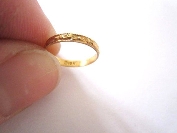 Reserved For Tawana Ornate Victorian Infant 10 Karat Gold Ring Size 50 Victorian Rings Gold Rings Jewelry Gold Rings