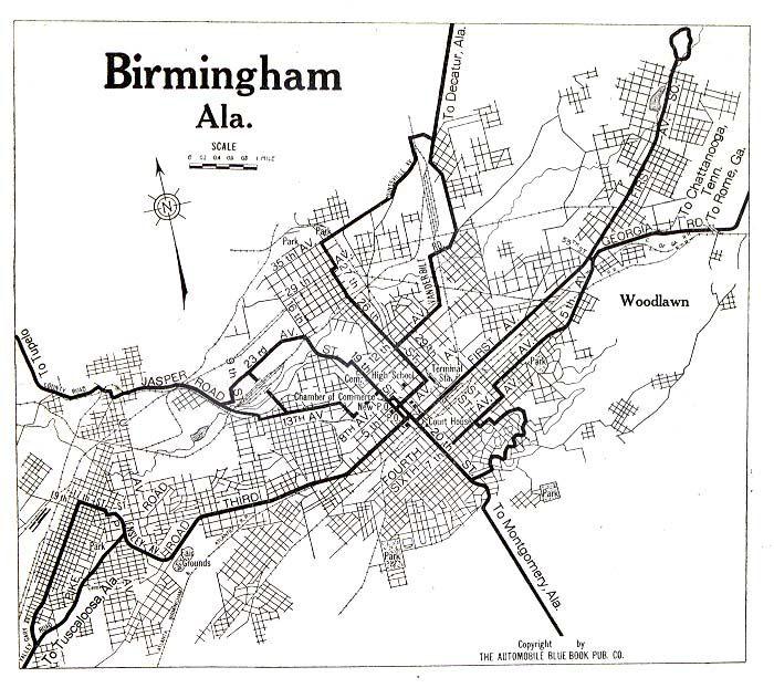 Birmingham AL City Map Birmingham Alabama Pinterest City Maps - Birmingham al on us map
