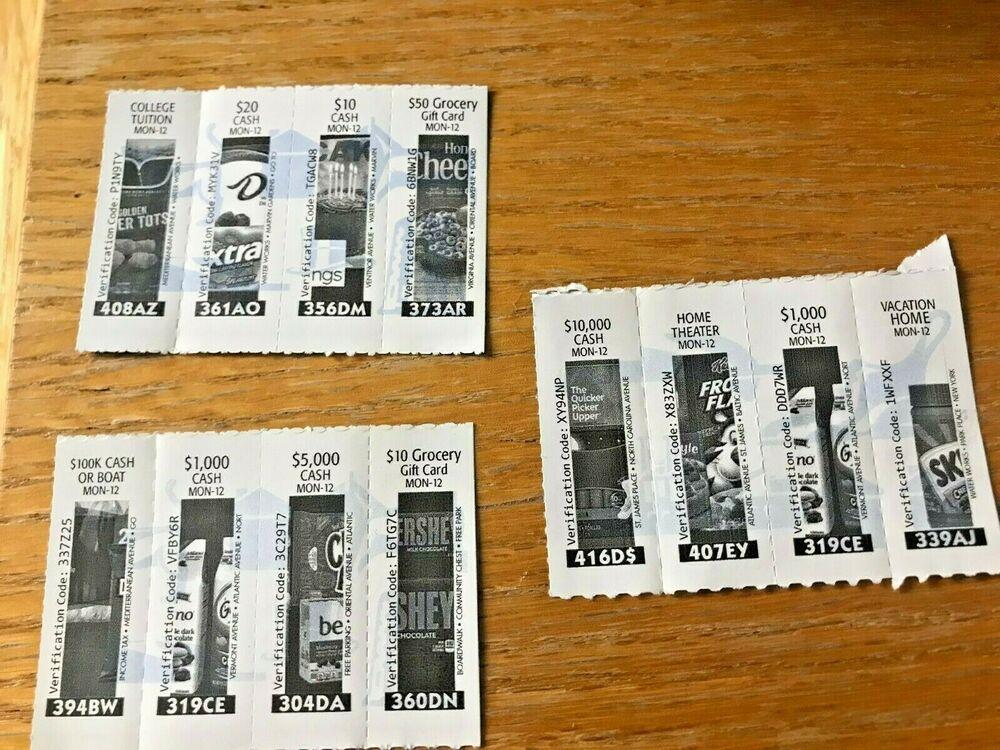 3 Rare Monopoly Game Tickets 100000 Vons Albertsons Safeway Shaws Acme 2019 52 Bids