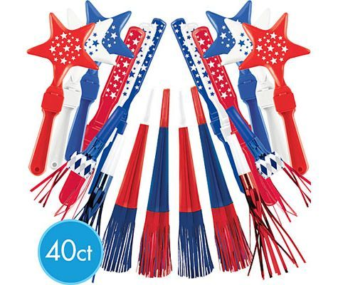 Patriotic Assorted Value Pack Noisemakers - Party City