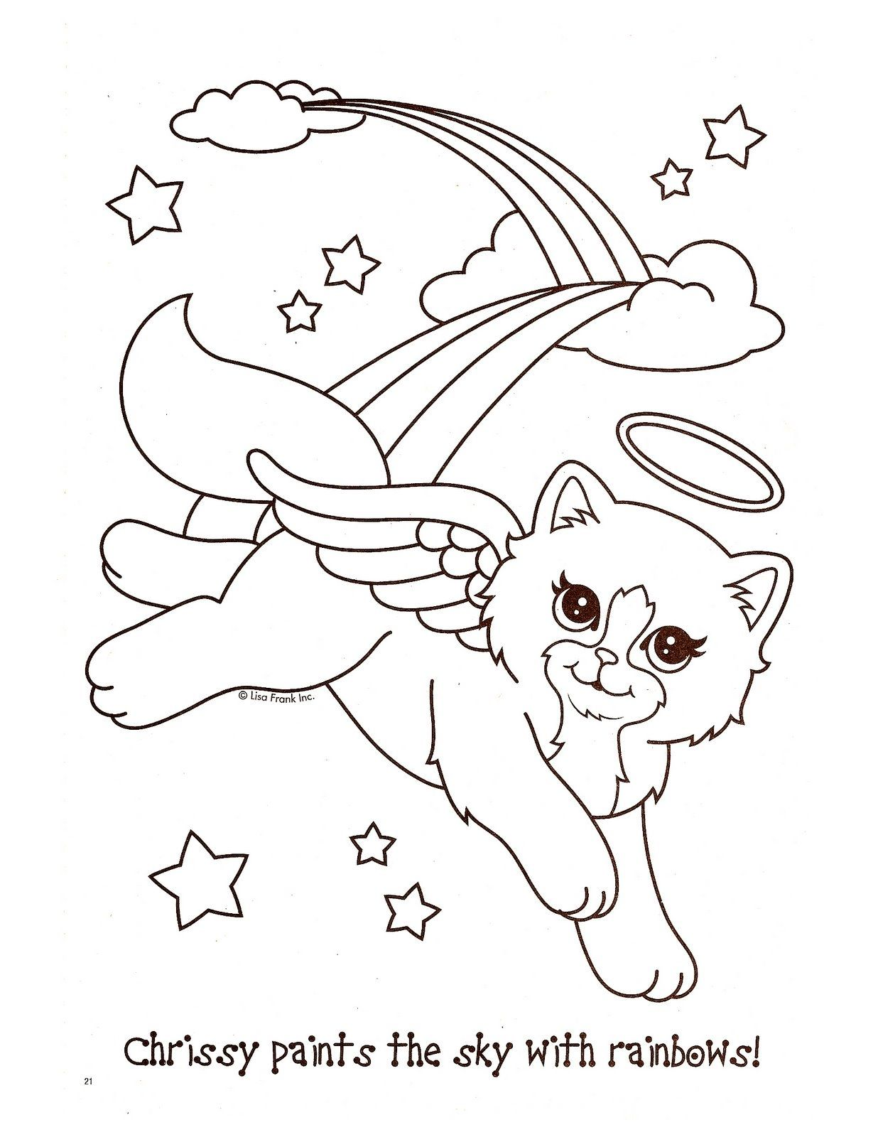 Angel Kitty Coloring Pages Gallery Sanat Sanat Etkinlikleri