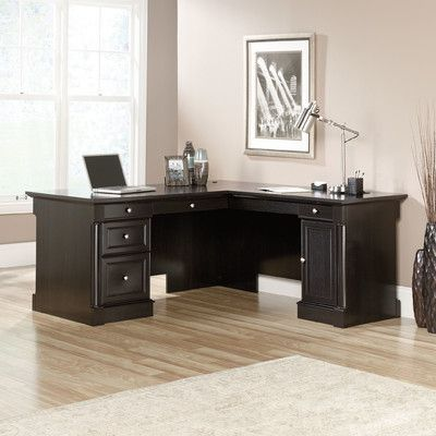 Darby Home Co Hennepin L-Shape Executive Desk