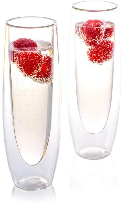 Stemless Glass Flute ' Champagne