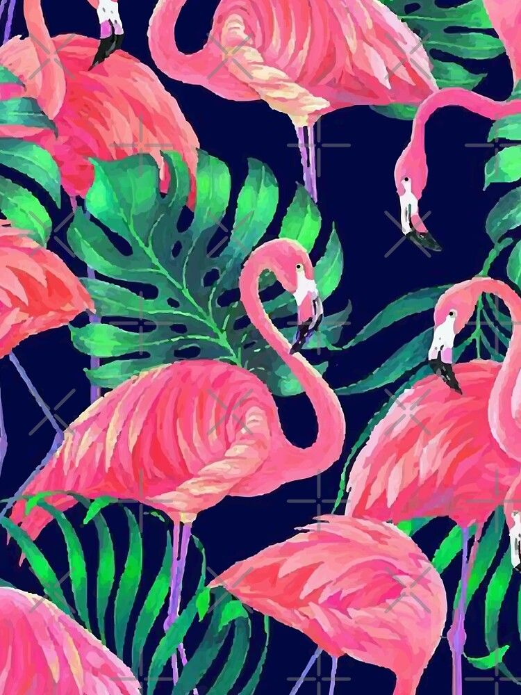 Flamingos Pattern In The Bright Forest A Line Dress By Designxd In 2020 Flamingo Illustration Flamingo Wallpaper Flamingo Art Print