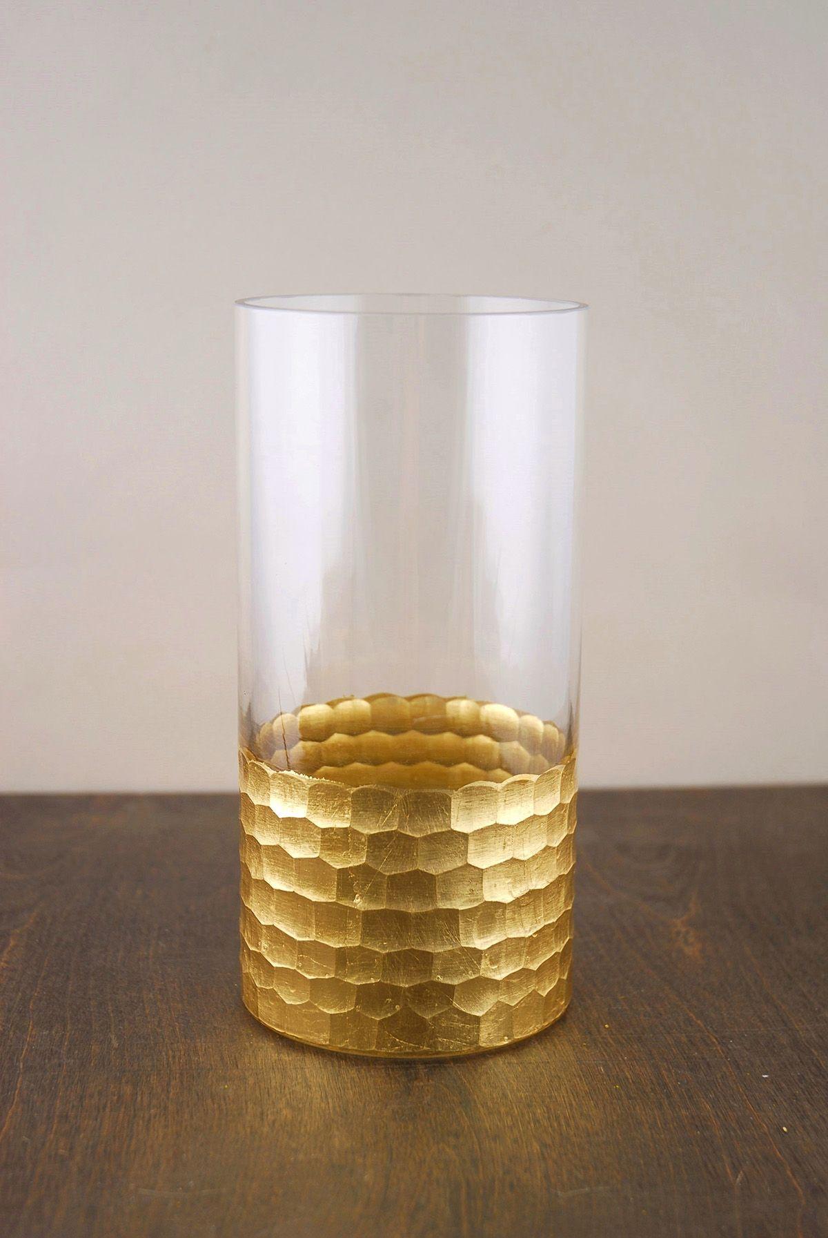 Gold Honeycomb Cylinder Vase 8 X 4 Honeycomb Vase Cylinder Vase Glass Cylinder Vases