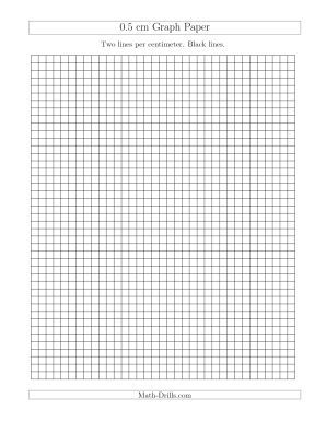 Cm Graph Paper With Black Lines A  Thgradealgebratutoring