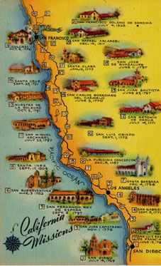 California Missions Trail FINALLY Tour ALL The Historic - California missions map