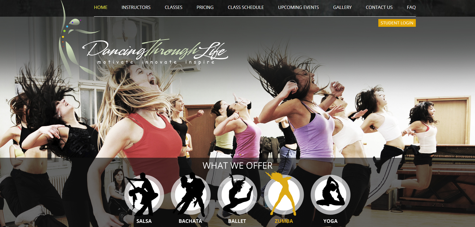 dance studio website design