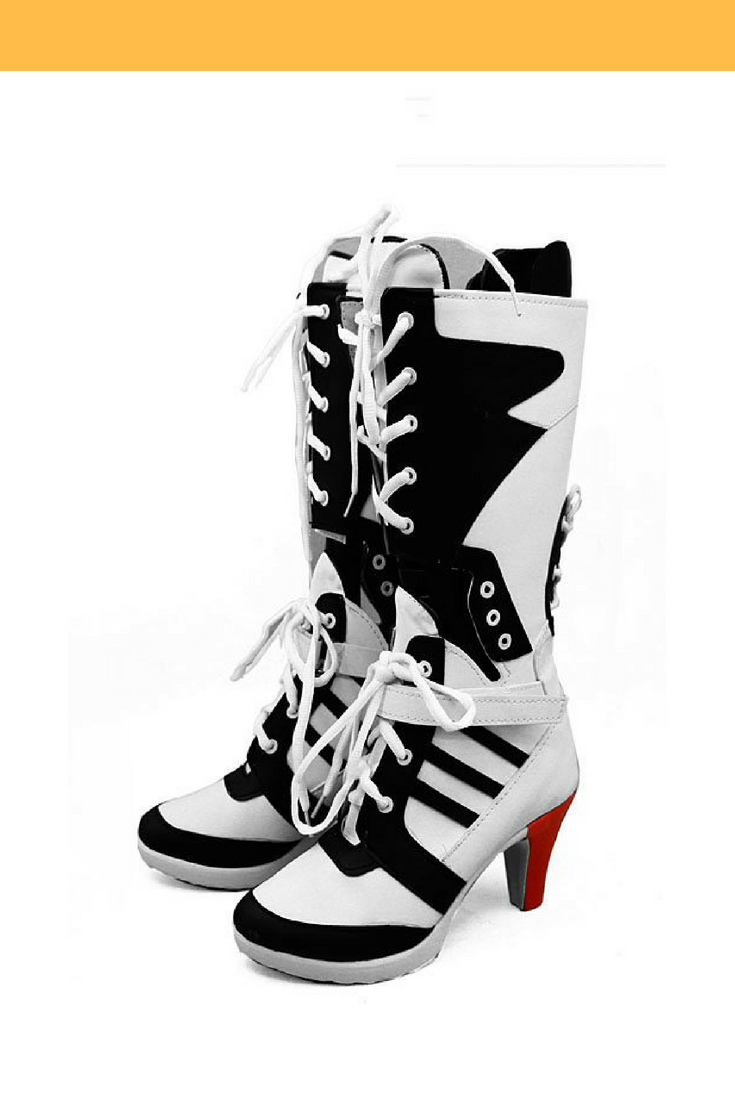 c49cf194284395 Suicide Squad Harley Quinn Movie Cosplay Shoes Batman