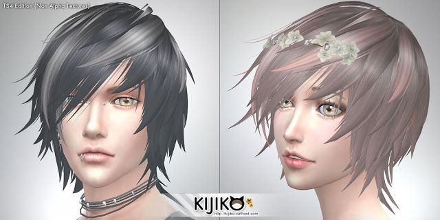 Sims 4 CC's - The Best: Hair by Kijiko
