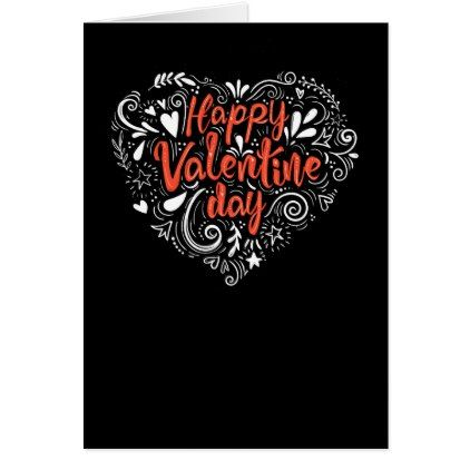 Decorative Valentine Greeting Card  holiday card diy personalize