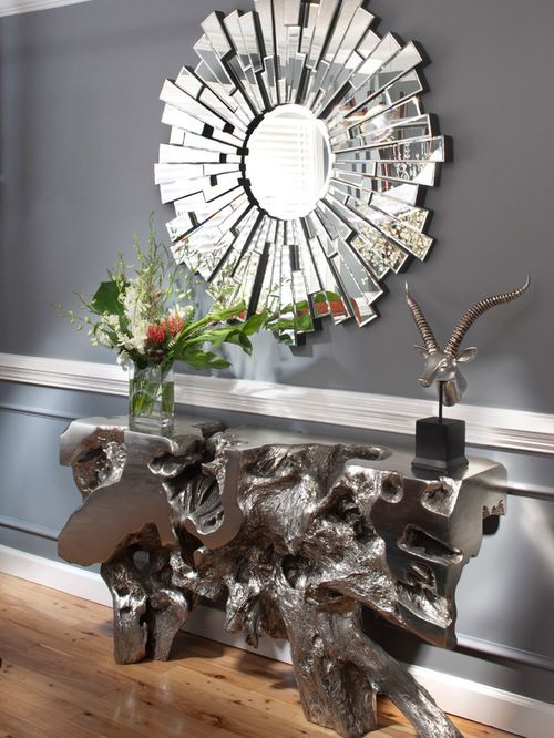 Awesome Sequoia Console Table Gray Interior Design Idea