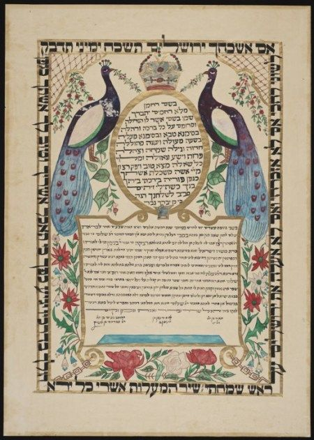 Jewish Marriage Contracts For the LOVE of Books \/ Ephemera - marriage contract