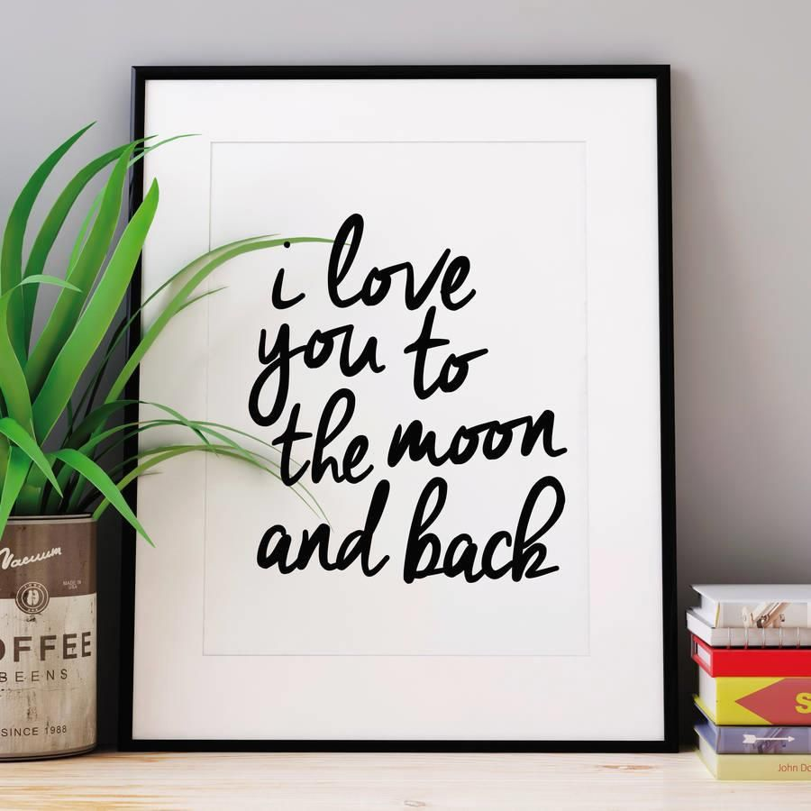I love you to the moon and back http://www.amazon.com/dp/B016MRLGRK  motivationmonday print inspirational black white poster motivational quote inspiring gratitude word art bedroom beauty happiness success motivate inspire