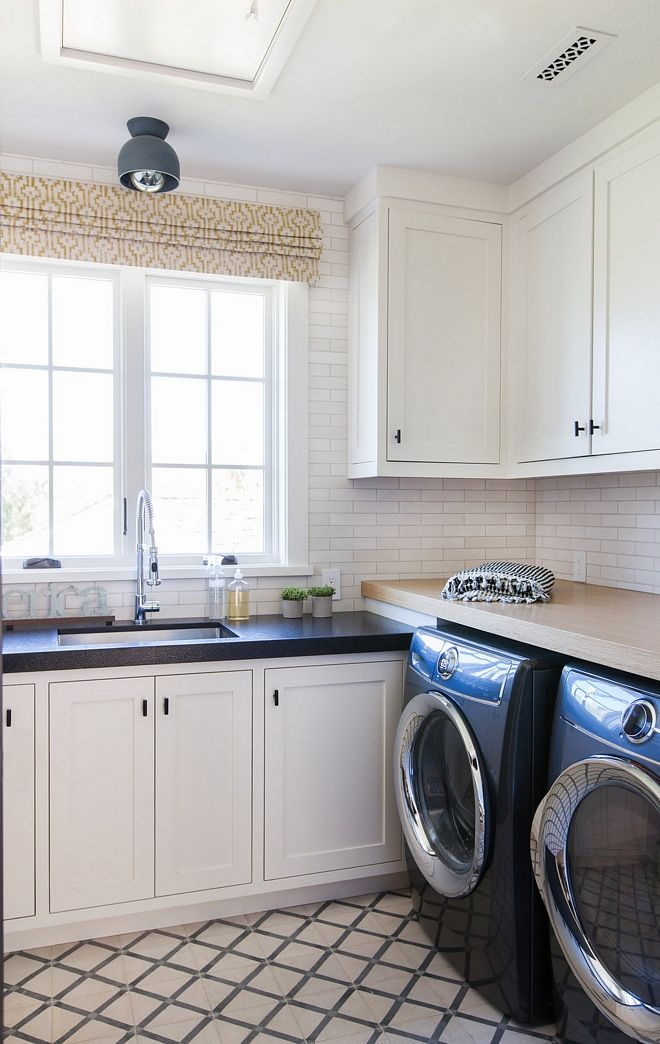Best Laundry Room With Off White Cabinets Cabinet Paint Color 640 x 480