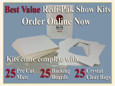 Working On A Large Scale Project Or Need Supplies For Art Students Our Redimat Show Kits Come Complete With 25 Precut Matboar Mat Board Picture Frame Mat Mats