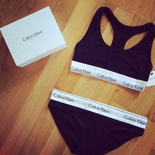 calvin klein female underwear set