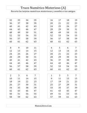 Truco Binario Del Numero Misterioso Todas Hojas De Ejercicios De Sentido Numerico Sentido Numerico Trucos Matematicos Taller De Matematicas