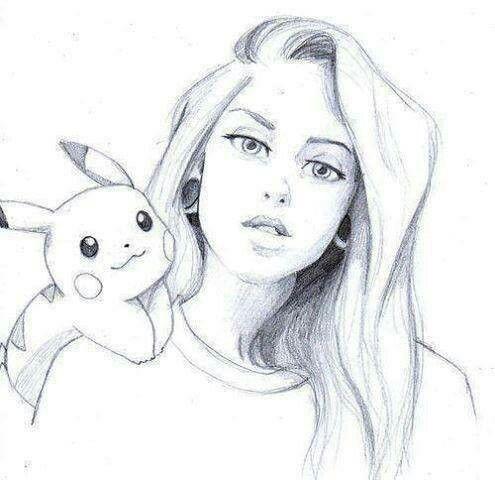 Красивые картинки девушек нарисованные карандашом