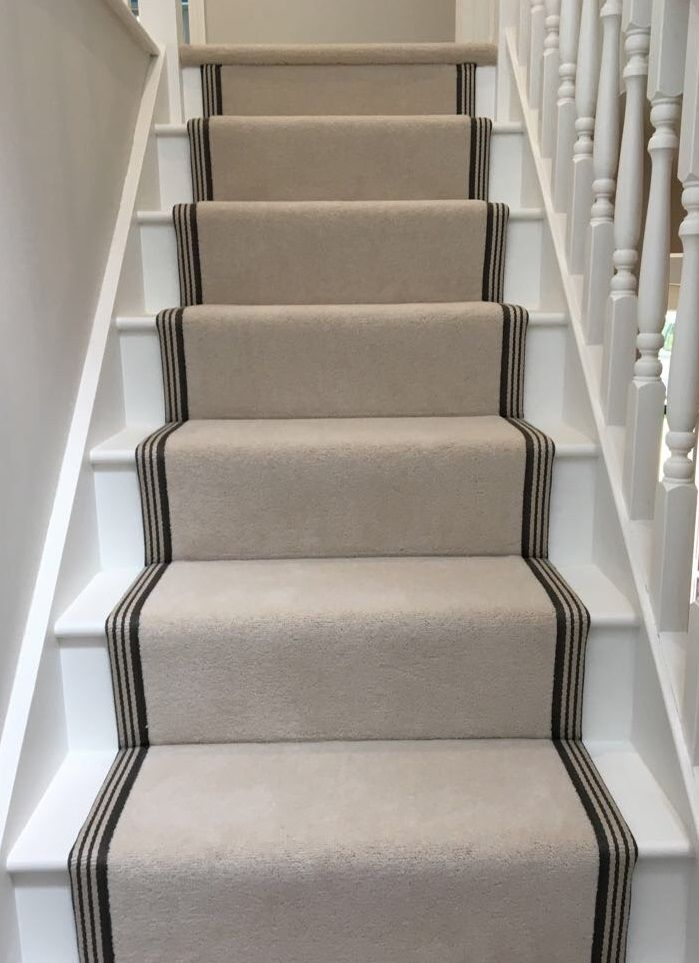Ultima Twist Major Cream Wool Velvet Carpet Fitted As   Twist Carpet For Stairs