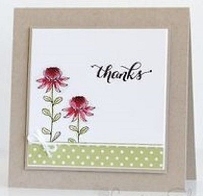 flowering fields stampin up - Google Search | paper ...