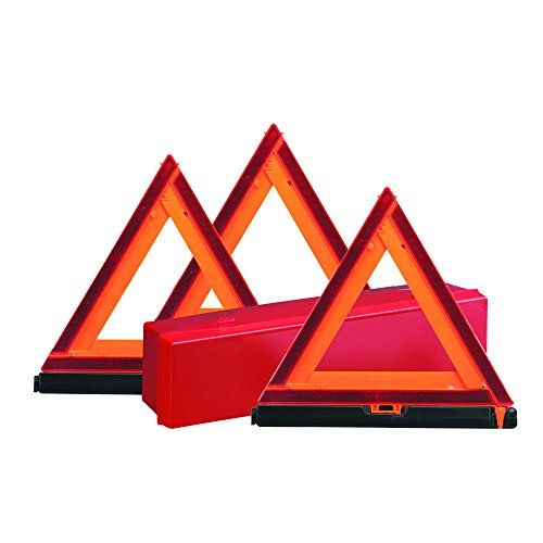 Protect yourself and your vehicle with these early warning sign reflective triangles. Alert motorists to roadside trouble day or night keeping you and your passengers safe. Our collapsible design for ...