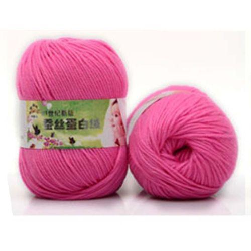 Wool-Yarn-Knitting-Cashmere-Modern-baby-soft-Silk-protein-velvet-Crochet-50g-Hot