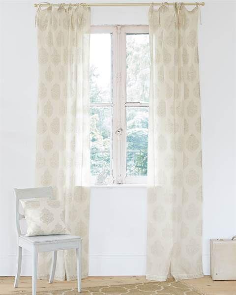 Vorhang Orient Bauwmolle transparent Deko Pinterest - Gardinen Landhausstil Wohnzimmer