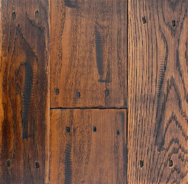 Square Nail Indents To Distress Hardwood Floors