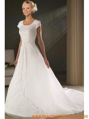 new arrival 4716a 18a5a gute Qualität schlicht Preiswerte Brautkleider aus Organz ...
