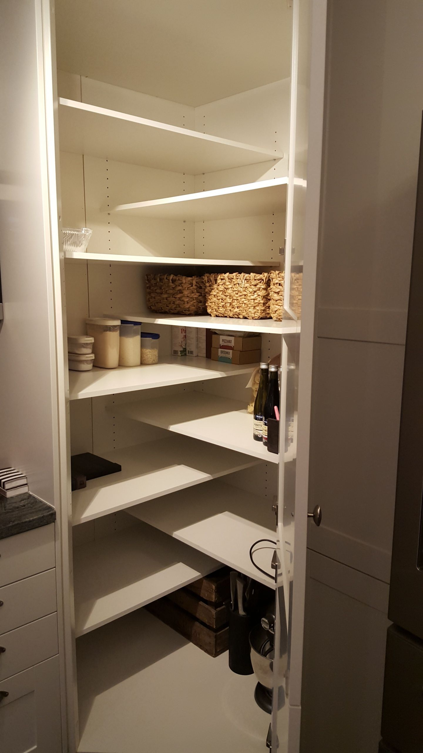 Something Like This Might Work In The Downstairs Storage Area If We Decide We Need A Pantry Interior Design Kitchen Diy Kitchen Storage Closet Kitchen