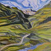 "Wander Medium: Acrylic on Canvas Size: 36"" x 36"""