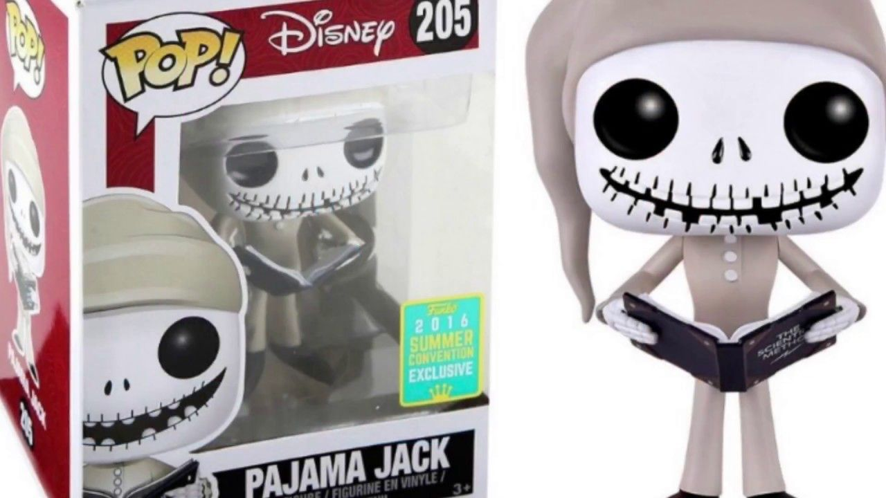 Funko POP Vinyl Pajama Jack No 205 Unboxing!Review Disney Nightmare ...