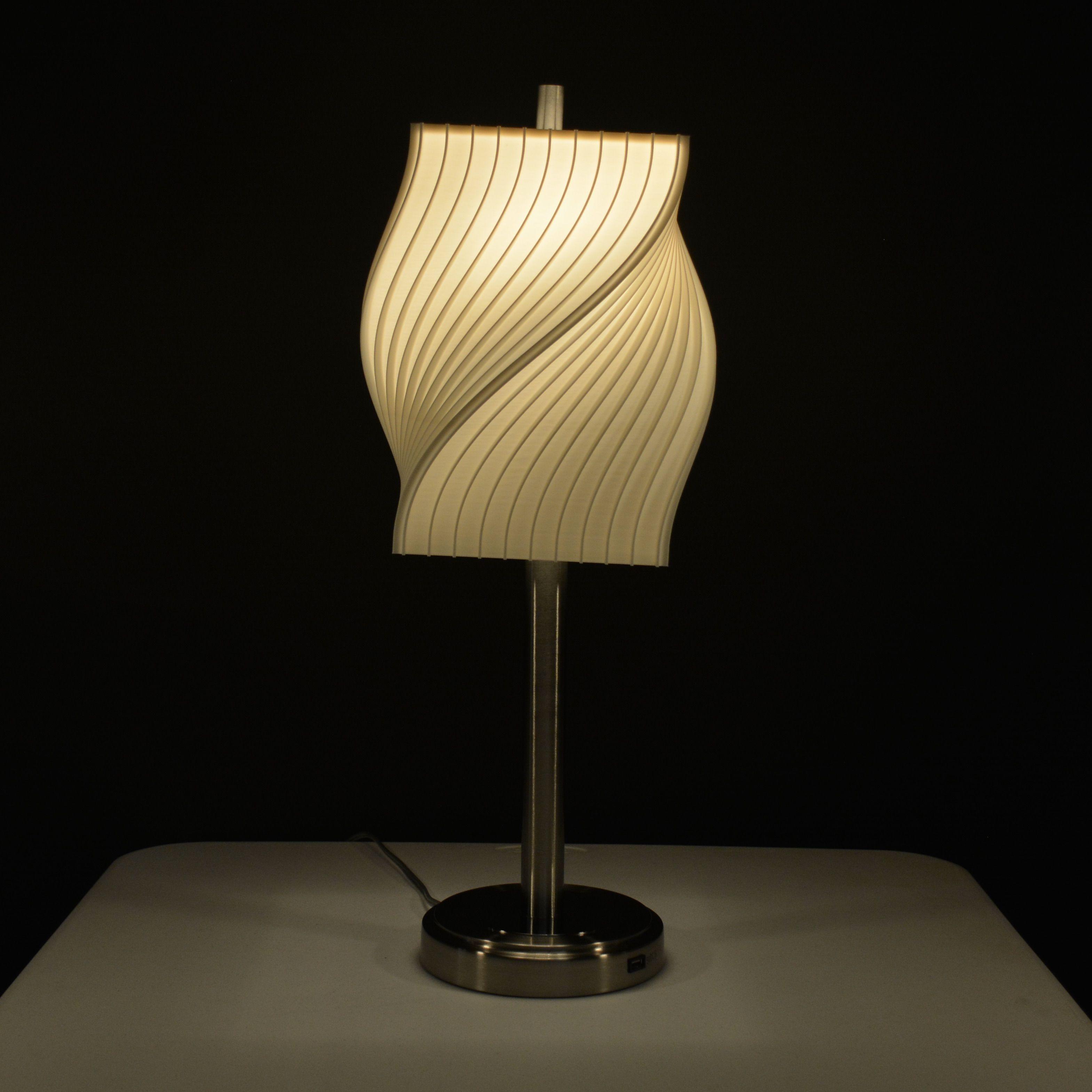 Fins Helix Table Lamp V2 Harp Mount In 2020 Modern Shade Volumetric Lighting Creative Lighting