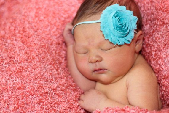 Teal Baby Headband Pink /& Teal Baby Headband Baby Headband Baby Girl Headband Infant Headband Newborn Headband Pink Baby Headband