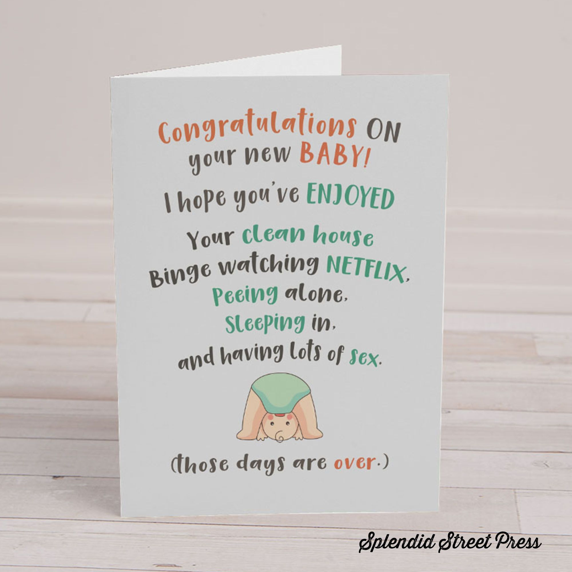 Pregnancy Card Best friend Baby Card New Baby Card Maternity Leave