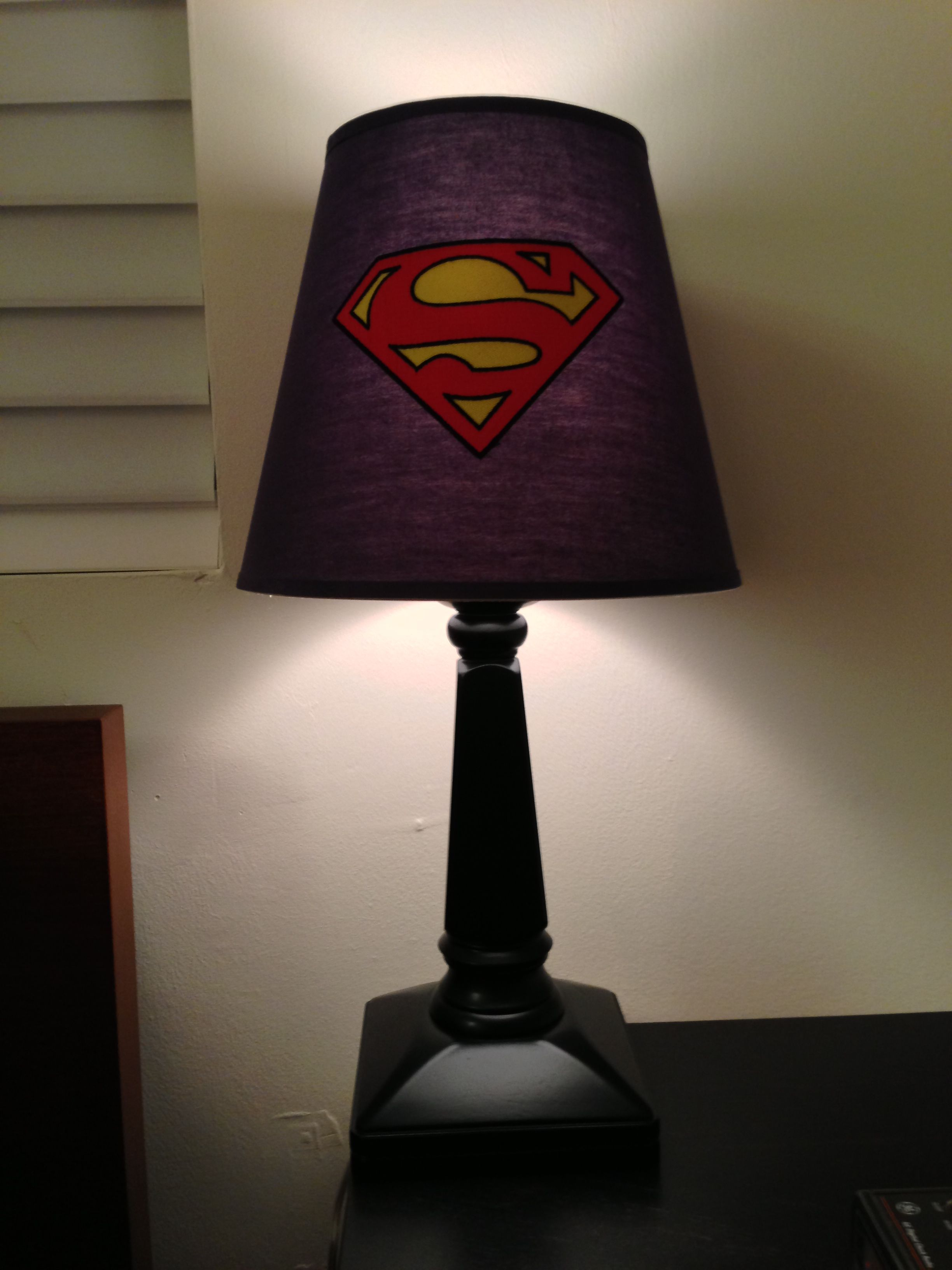 Superman Lamp From Pottery Barn Kids Taken With My Iphone