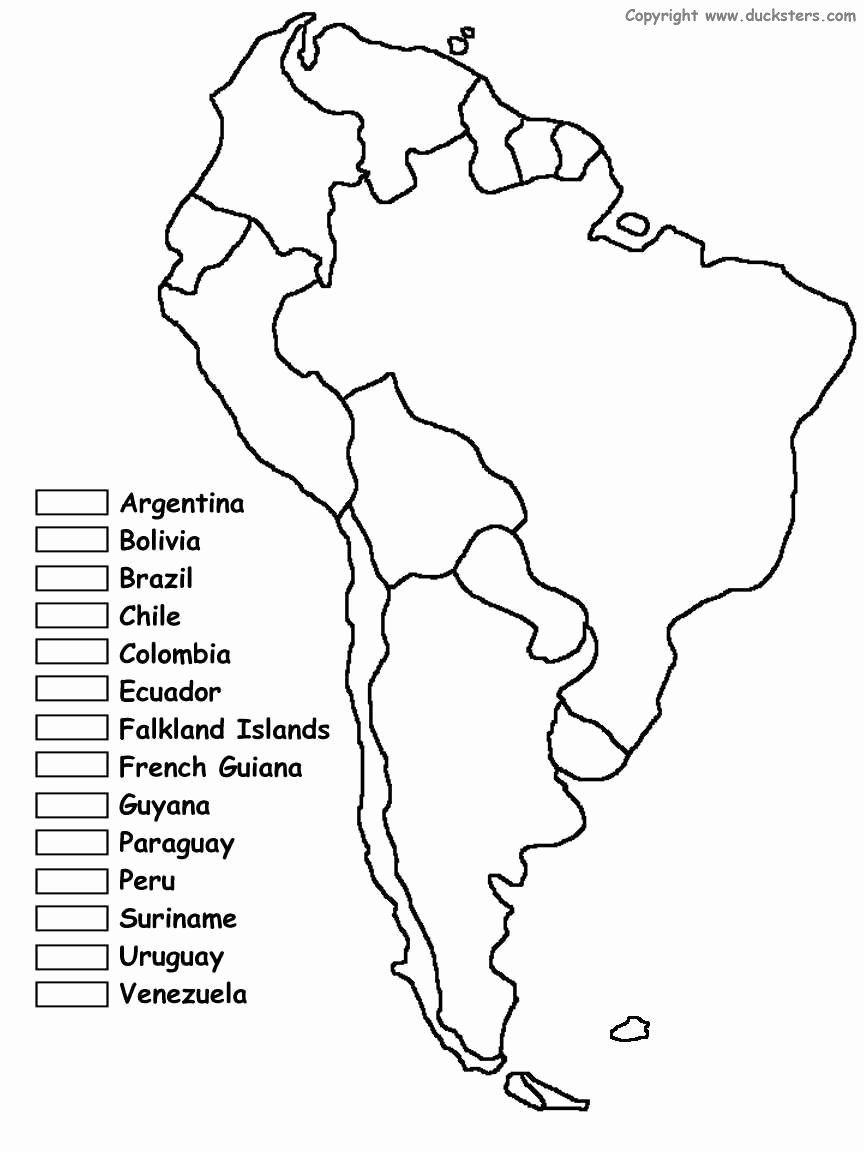 African Countries Coloring Page Elegant South America Unit W Free Printables Homeschooling Geography For Kids How To Speak Spanish South America Map