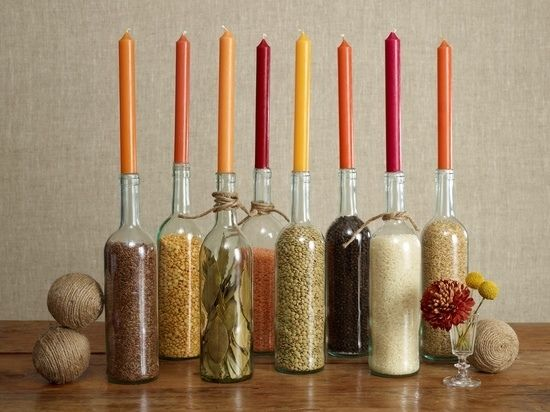 Kerzenständer flaschen deko ideen kerzenhalter selbermachen deko