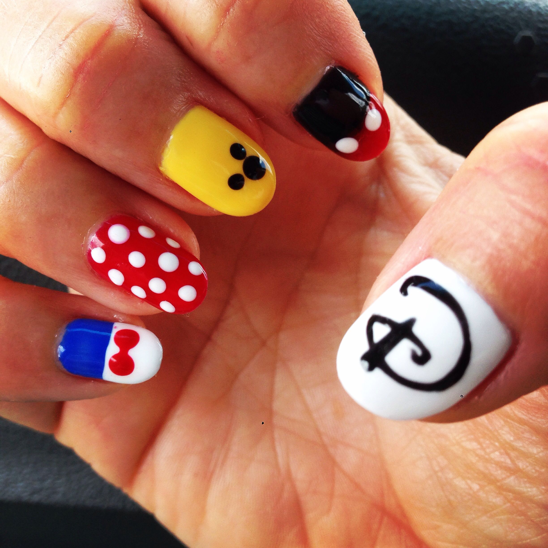 Disney gel nails | Nail art | Pinterest | Nageldesign